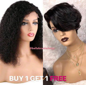 BELLA VIRGIN WIGS - Get 1 Afro Kinky and 1 FREE Toya - Bella Braided Wigs