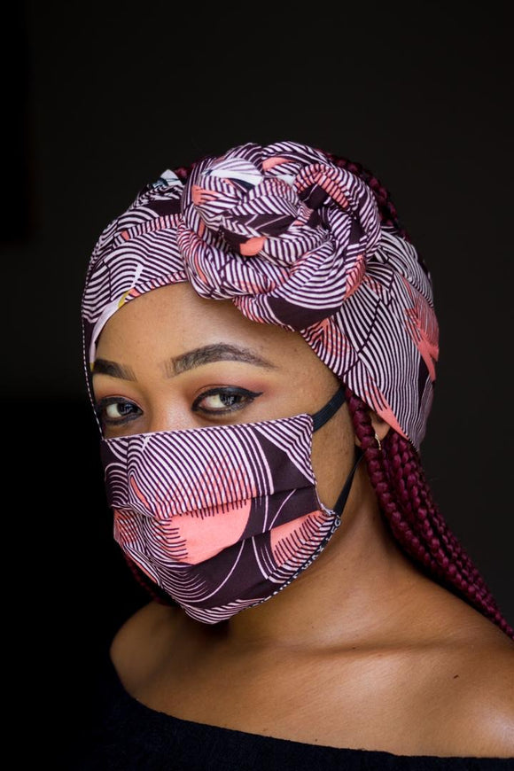 Bella Face Mask - Ankara Pink Set - Bella Braided Wigs