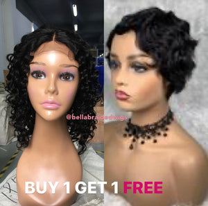 Bella Virgin Wigs - Buy 1 Nina Get 1 FREE Bebe - Bella Braided Wigs