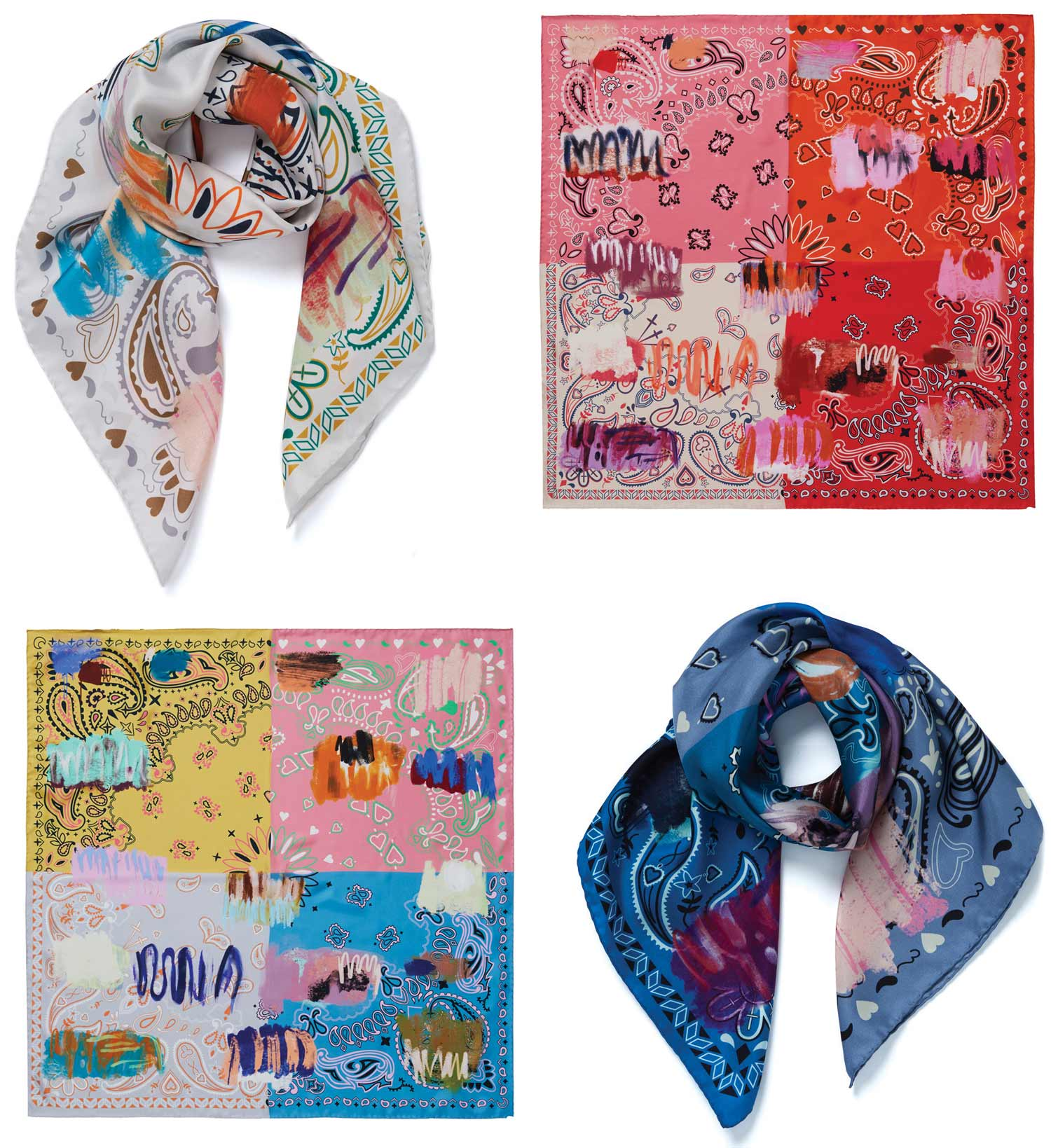 JANE CARR The Holiday Hotlist, Messy Bandana Foulard