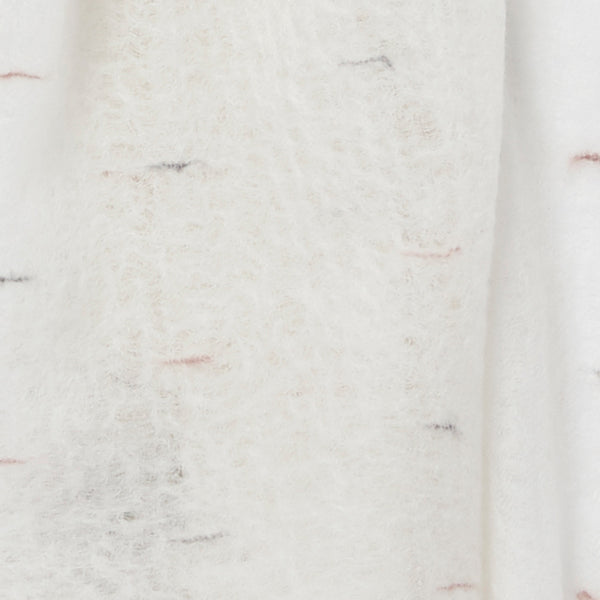 THE LOOM WRAP - Ivory textured cashmere wrap