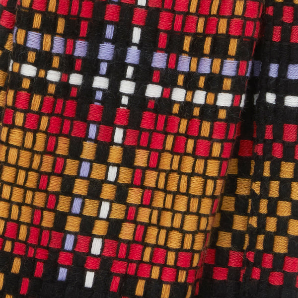 JANE CARR The Plaid Scarf in Firework, woven wool grid scarf – detail