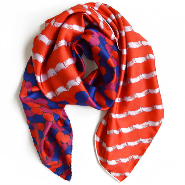 JANE CARR X SERPENTINE GALLERIES EXCLUSIVE FOULARD - Multicolour printed silk twill scarf