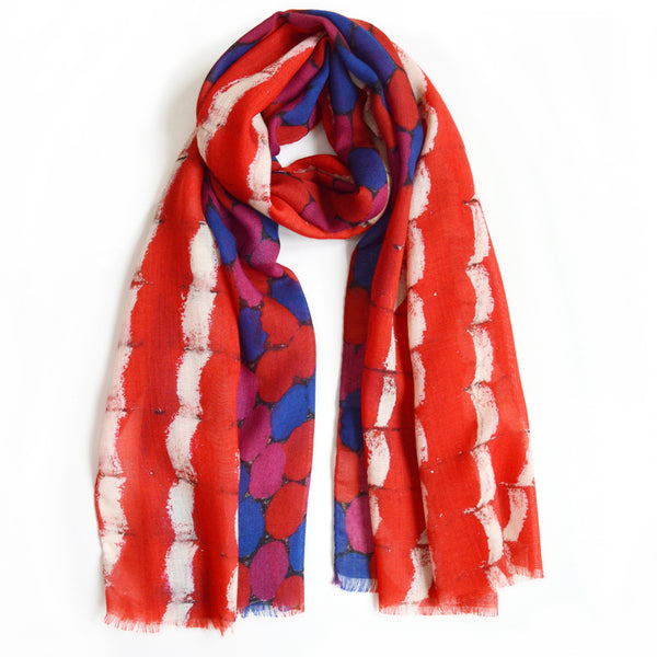 JANE CARR X SERPENTINE GALLERIES EXCLUSIVE STOLE - Multicolour printed wool cashmere scarf