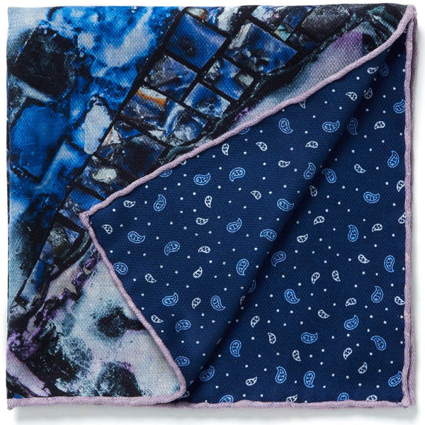 JANE CARR X JACK WHITTEN FOR HAUSER & WIRTH SPATIAL DIALOGUE POCKET SQUARE - Printed silk pocket square