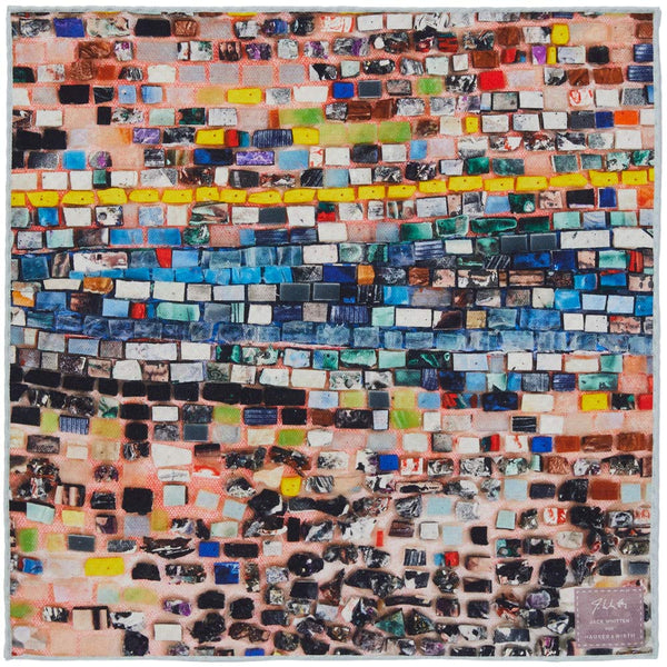 JANE CARR X JACK WHITTEN FOR HAUSER & WIRTH QUANTUM WALL POCKET SQUARE - Printed silk pocket square