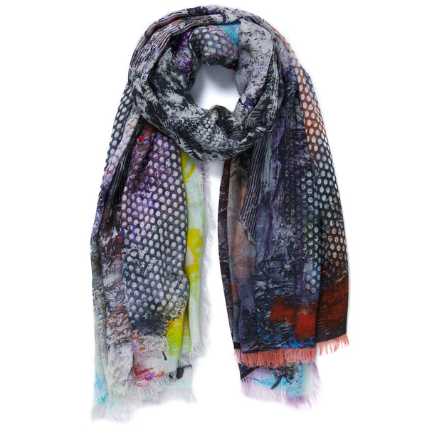 JANE CARR X JACK WHITTEN FOR HAUSER & WIRTH WILLI MEETS THE KEEPER WRAP - Printed modal cashmere scarf