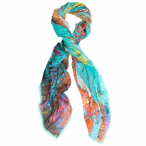 JANE CARR X INTERMIX, THE PAINT WRAP - Printed modal cashmere scarf