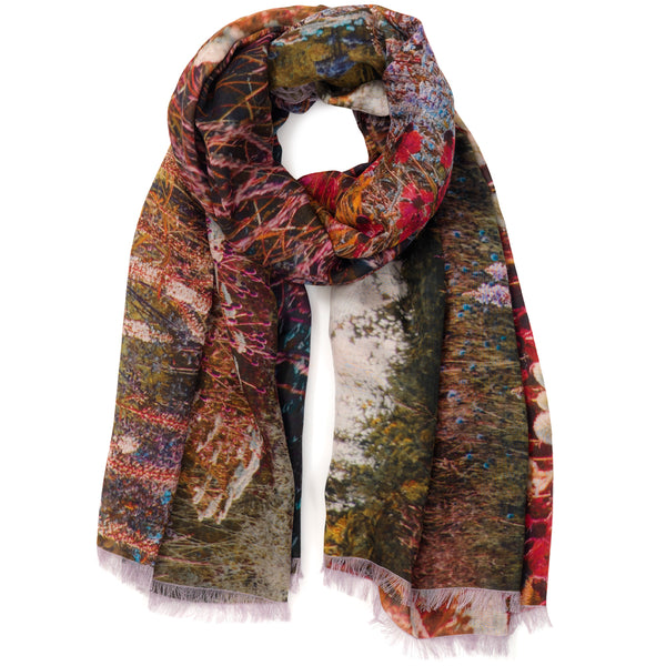 JANE CARR X Piet Oudolf and Hauser & Wirth Wrap - 'Meadow' printed modal cashmere wrap