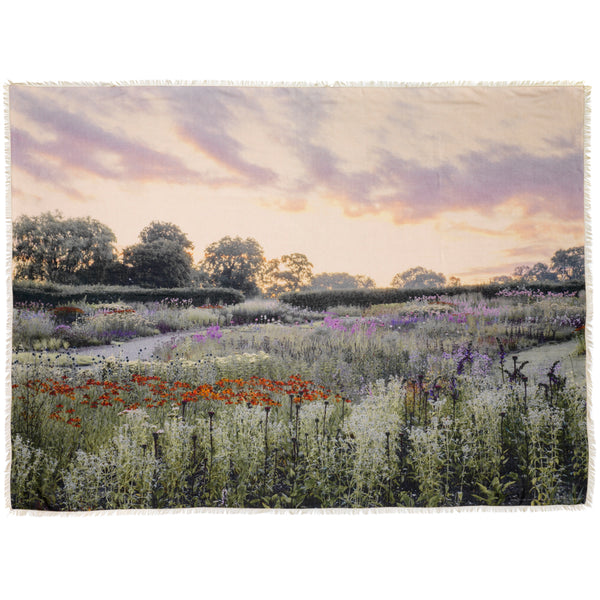 JANE CARR X Piet Oudolf and Hauser & Wirth Wrap - 'Panorama' printed modal cashmere wrap