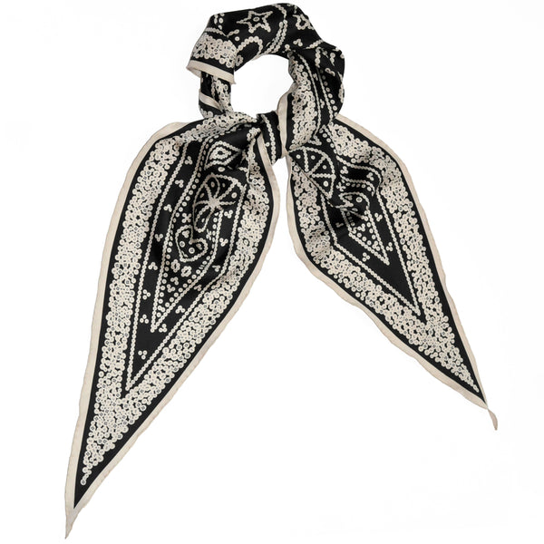JANE CARR X SELFRIDGES, THE PEARLY KING NECKER - Exclusive printed silk scarf