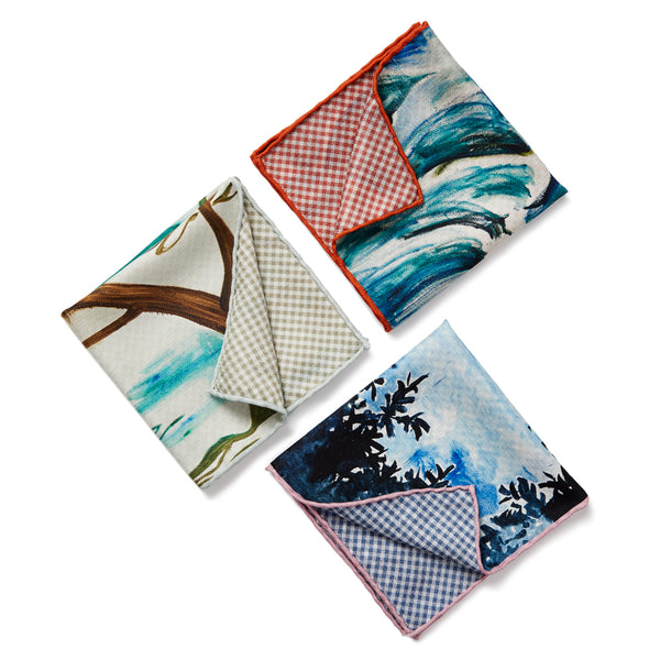 JANE CARR X ZHANG ENLI AND HAUSER & WIRTH POCKET SQUARES - Multicolour printed silk schappe