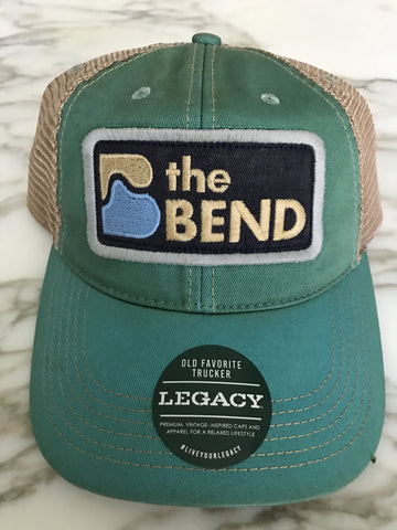 Aqua Blue Trucker Hat