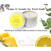 Lemon and Lavender Aromatherapy Candle - spa-noir