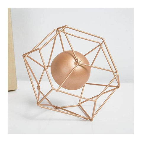 Geometric Candle Holder - spa-noir