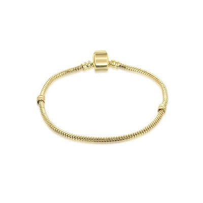 Keep It Simple Gold Bracelet - spa-noir