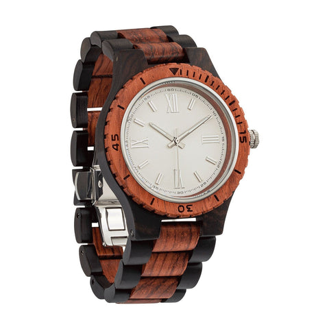 Handcrafted Wood Watch - spa-noir