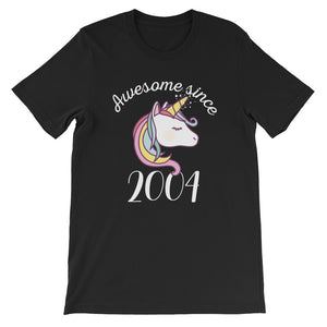 Awesome Since 2004 Funny Unicorn Birthday