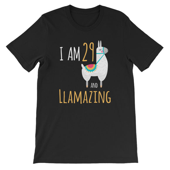 I Am 29 And Llamazing Funny Llama Alpaca Birthday Gift