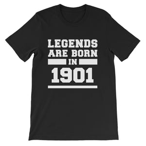 Legends Are Born In 1901 Birthday Gift