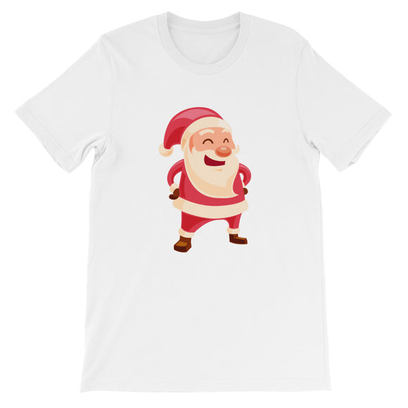 Laughing Santa Claus Christmas Unisex short sleeve t-shirt