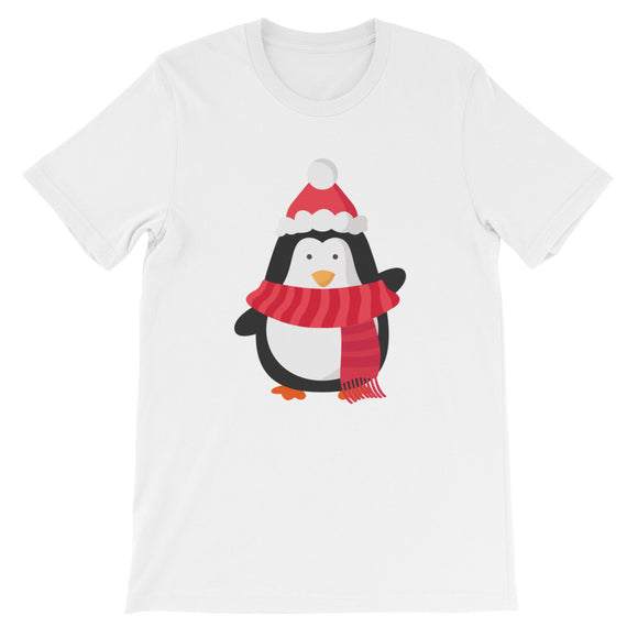 Christmas Penguin Unisex short sleeve t-shirt