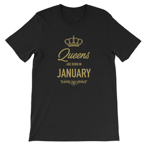 Queens Are Born In January Funny Vintage Birthday Gift