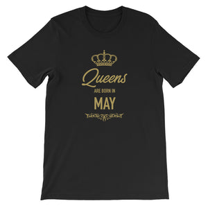 Queens Are Born In May Funny Vintage Birthday Gift