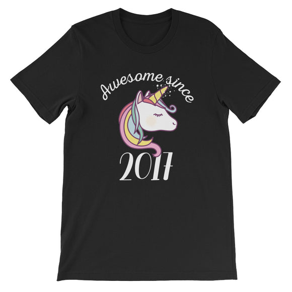 Awesome Since 2017 Funny Unicorn Birthday