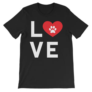 Animal Dog Cat Love Unisex short sleeve t-shirt
