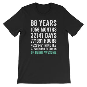 Birthday Gift T Shirt 88 Years Old Being Awesome