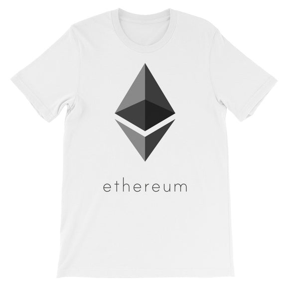 Ethereum Cryptocurrency Unisex short sleeve t-shirt