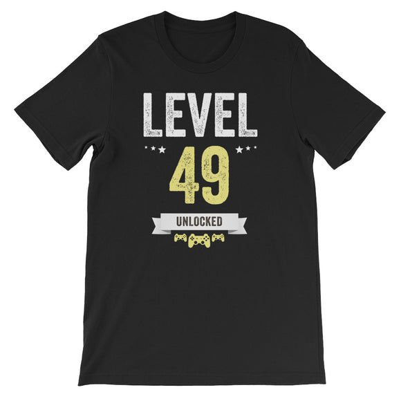 Funny Vintage Level 49 Unlocked Video Gamer Birthday
