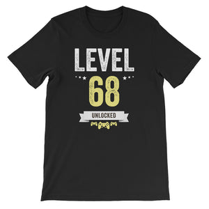 Funny Vintage Level 68 Unlocked Video Gamer Birthday