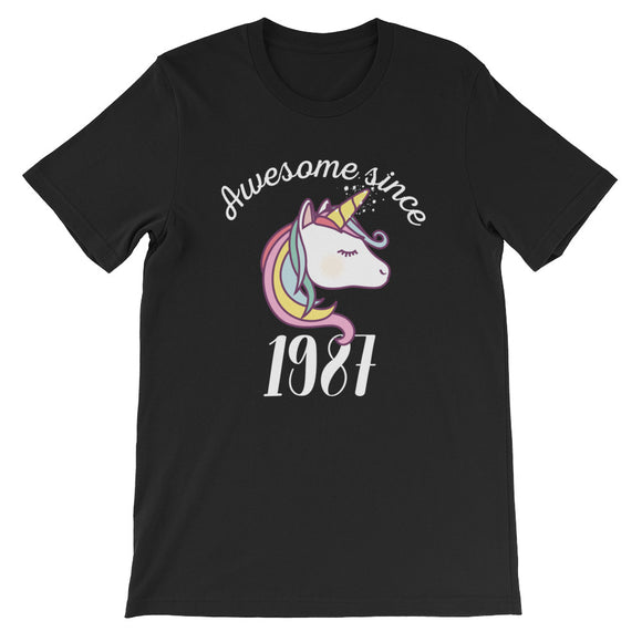 Awesome Since 1987 Funny Unicorn Birthday
