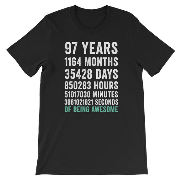 Birthday Gift T Shirt 97 Years Old Being Awesome
