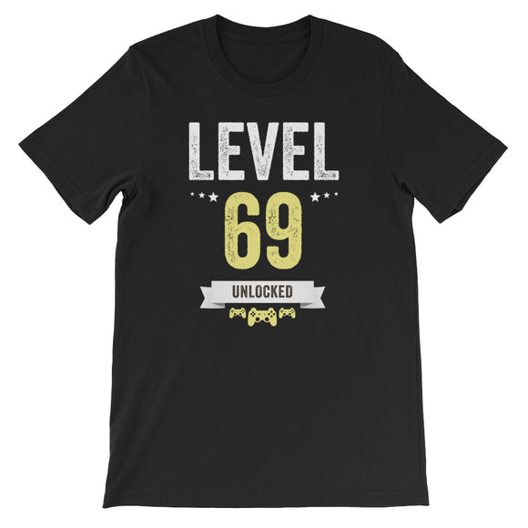 Funny Vintage Level 69 Unlocked Video Gamer Birthday