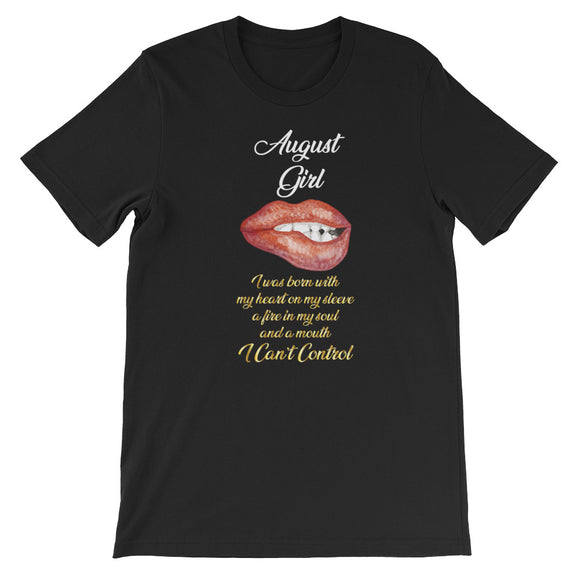 Funny Birthday August Girl Black Girl Lips