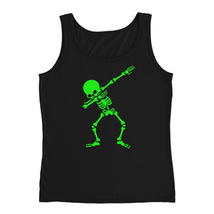 Funny Green Dabbing Skeleton