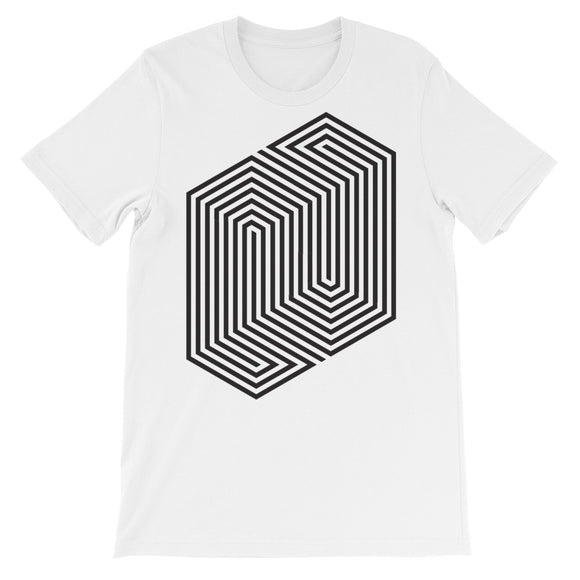 Optical Illustion Lines Pattern Unisex short sleeve t-shirt