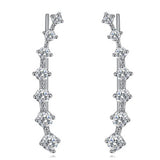 """7-Stars"" Alloy Diamond Ear cuff Climber Crawler Stud Earrings Hypoallergic Earrings"