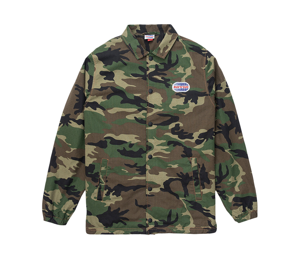 Camouflage Ripstop Coach jacket