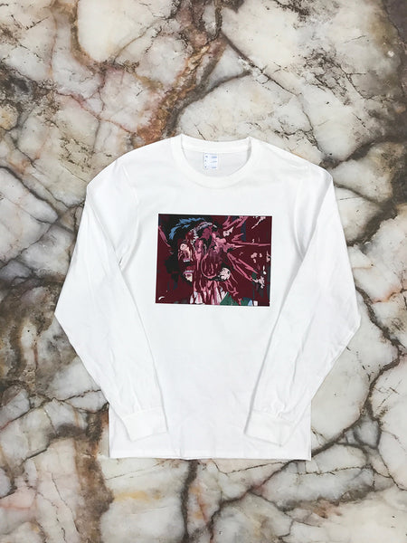 Anime Head Explode White Long Sleeve