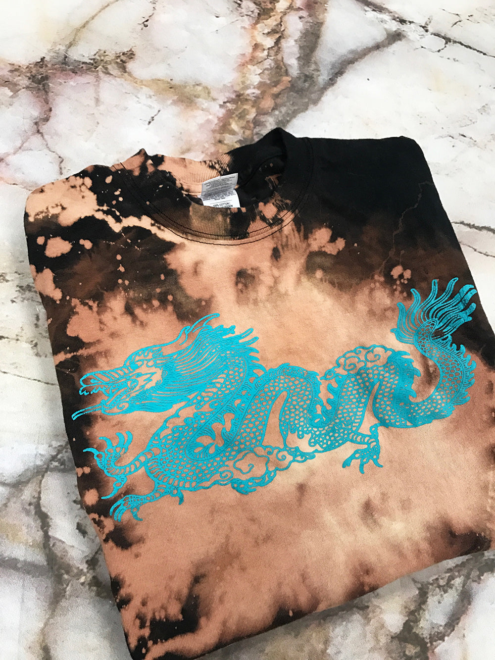 The Dragon Bleached Black T Shirt