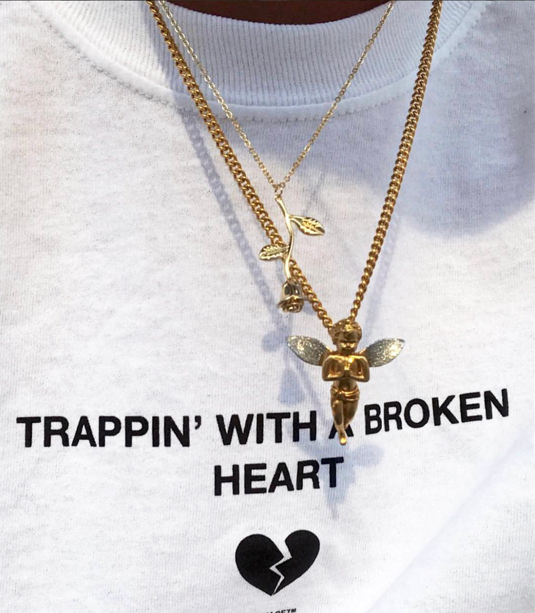 Trappin With A Broken Heart White Long Sleeve