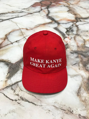 Make Kayne Great Again Red Strapback Cap