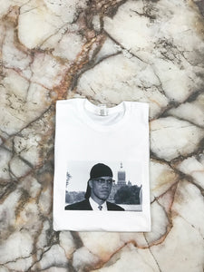 Malcolm X White Long Sleeve
