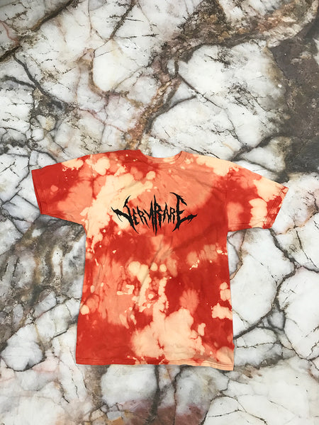 Very Rare Red Bleached T Shirt