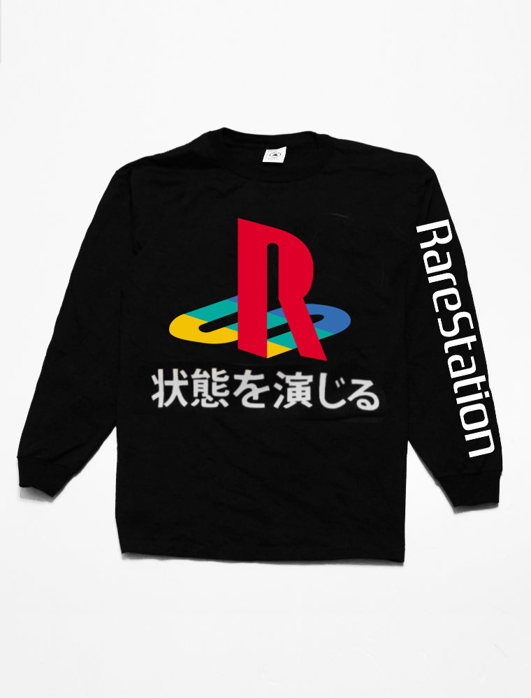Very Rare Rare Station Black Long Sleeve
