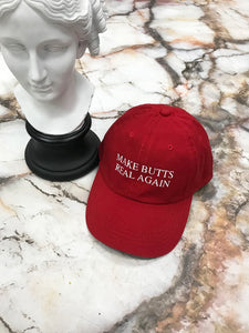 Make Butts Real Again Red Strapback Cap
